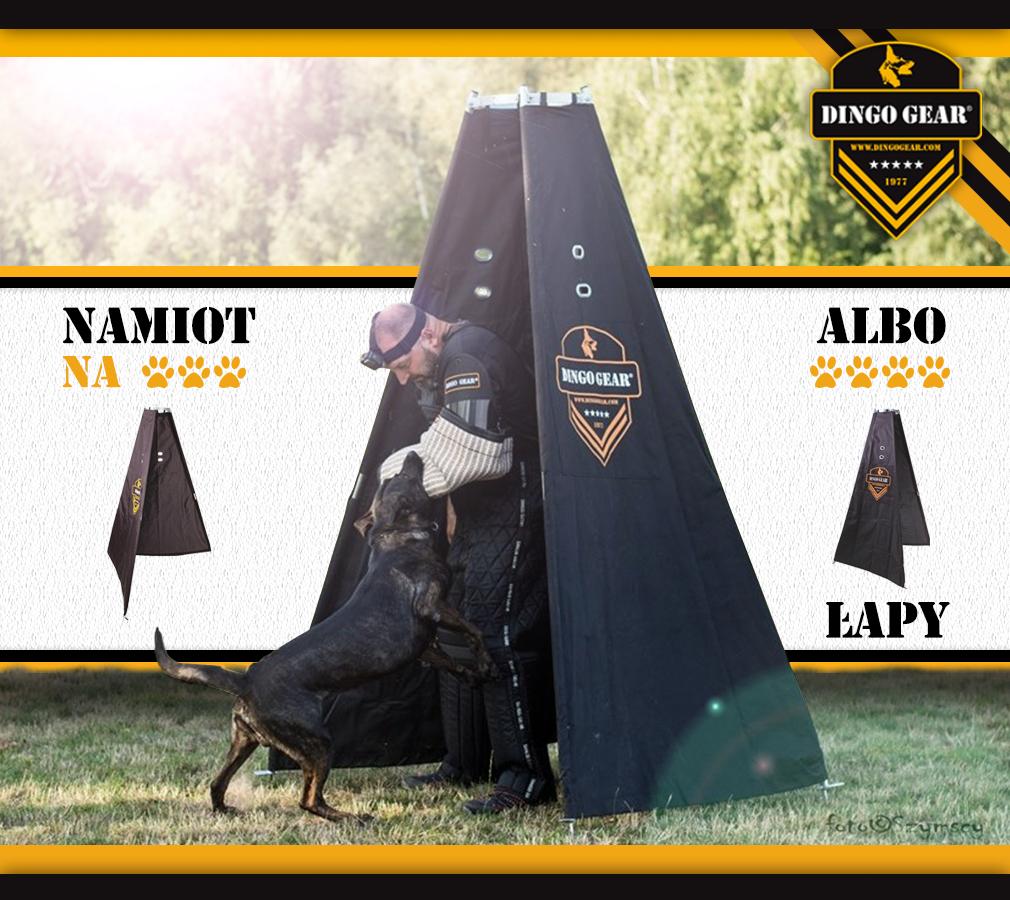 Przetestuj namiot na trzy albo cztery nogi dla pozoranta