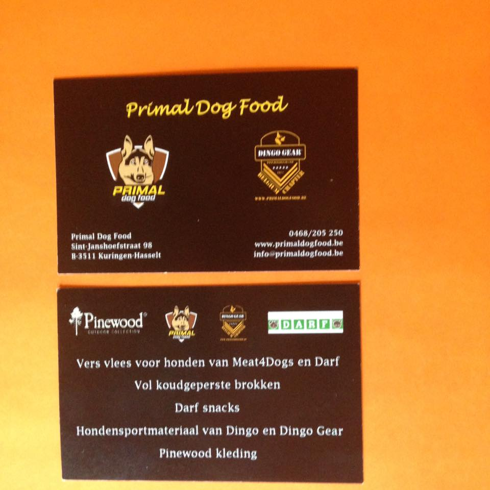 Our Business Partner in Belgium:  Primal Dog Food Sint-Janshoefstraat 98 3511 Kuringen