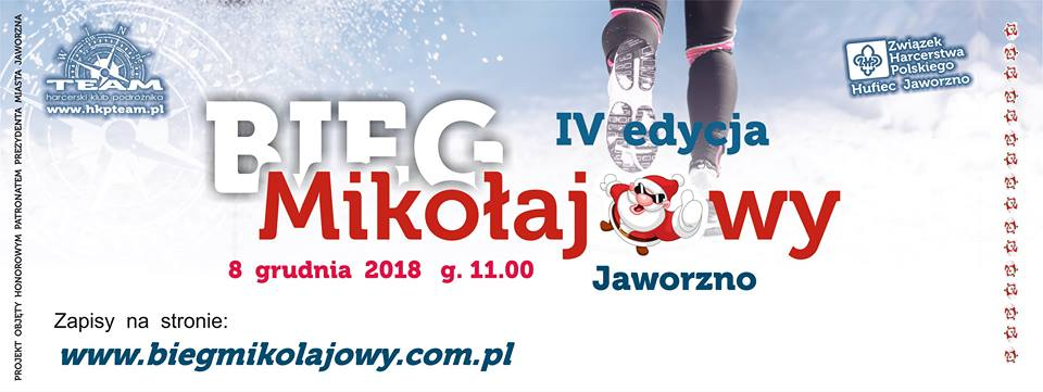 Bieg Mikołajkowy Jaworzno 8 grudnia 2018