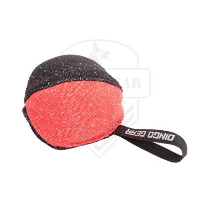 DG S02781 zabawka treningowa piłka#16cm czarno- czerw