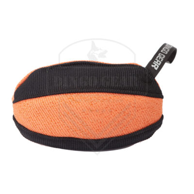 DG S02785 zabawka treningowa rugby 22x13cm czarno-pomarańczowa (2)