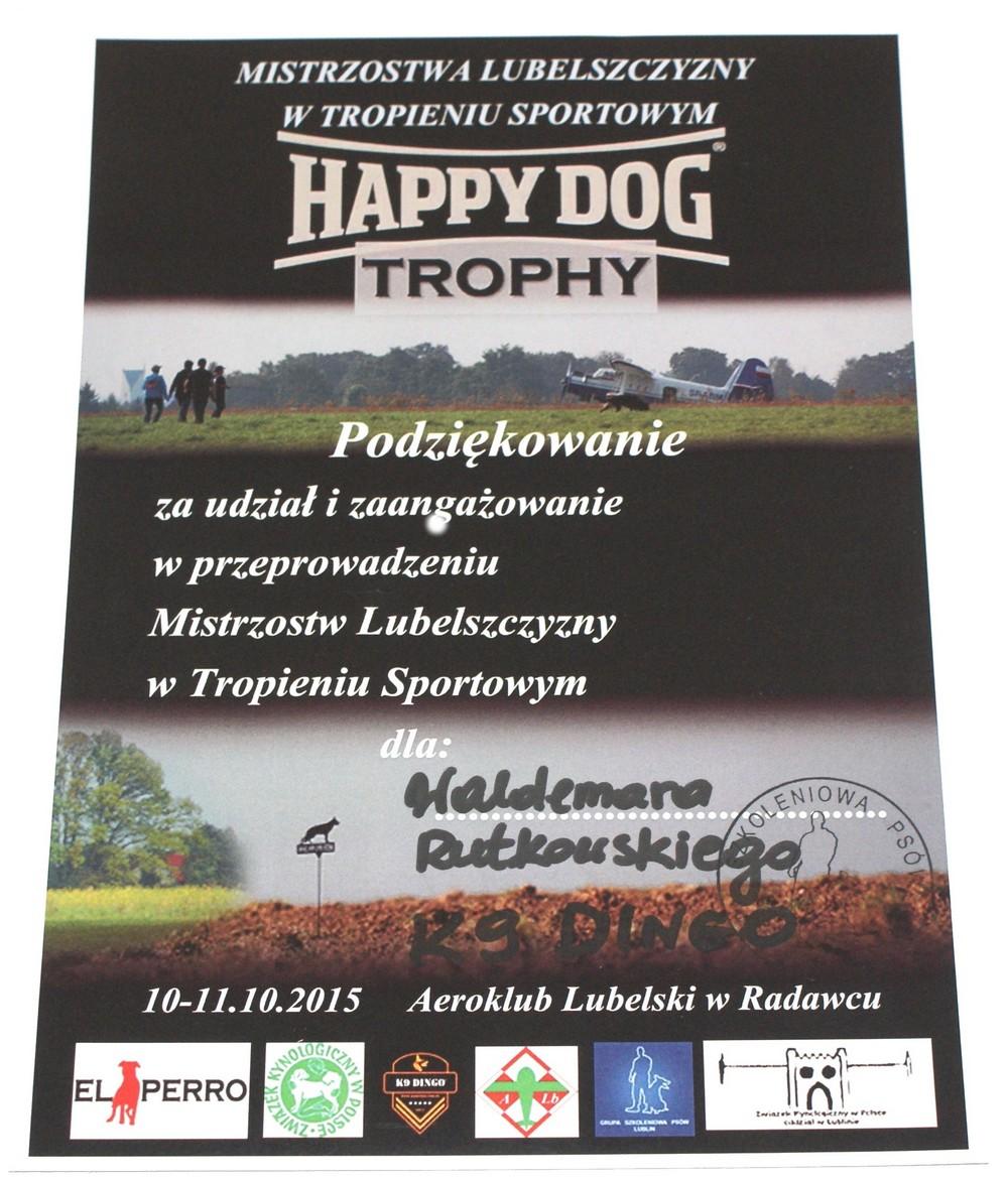 Mistrzostwa Lubelszczyzny w Tropieniu Sportowym 10-11.10.2015r.