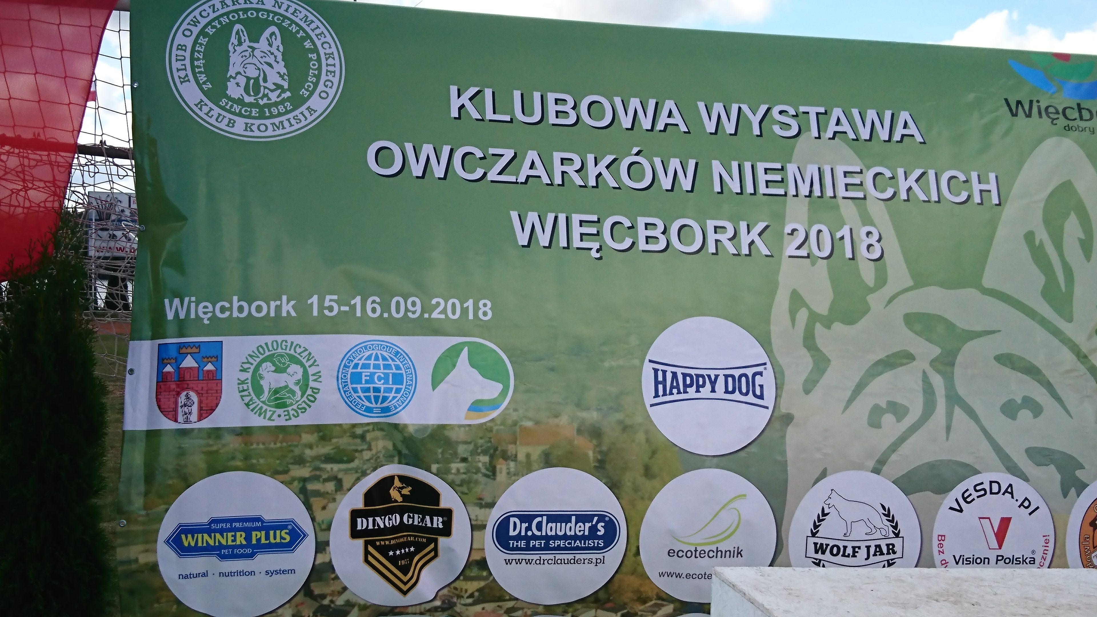Klubowa Wystawa Owczarków Niemieckich 15-16.09.2018r Więcbork