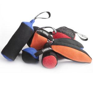 Zabawki treningowe z materiału francuskiego (nylcotu)