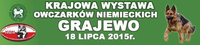 Krajowa Wystawa Owczarków Niemieckich – Grajewo 18.07.2015